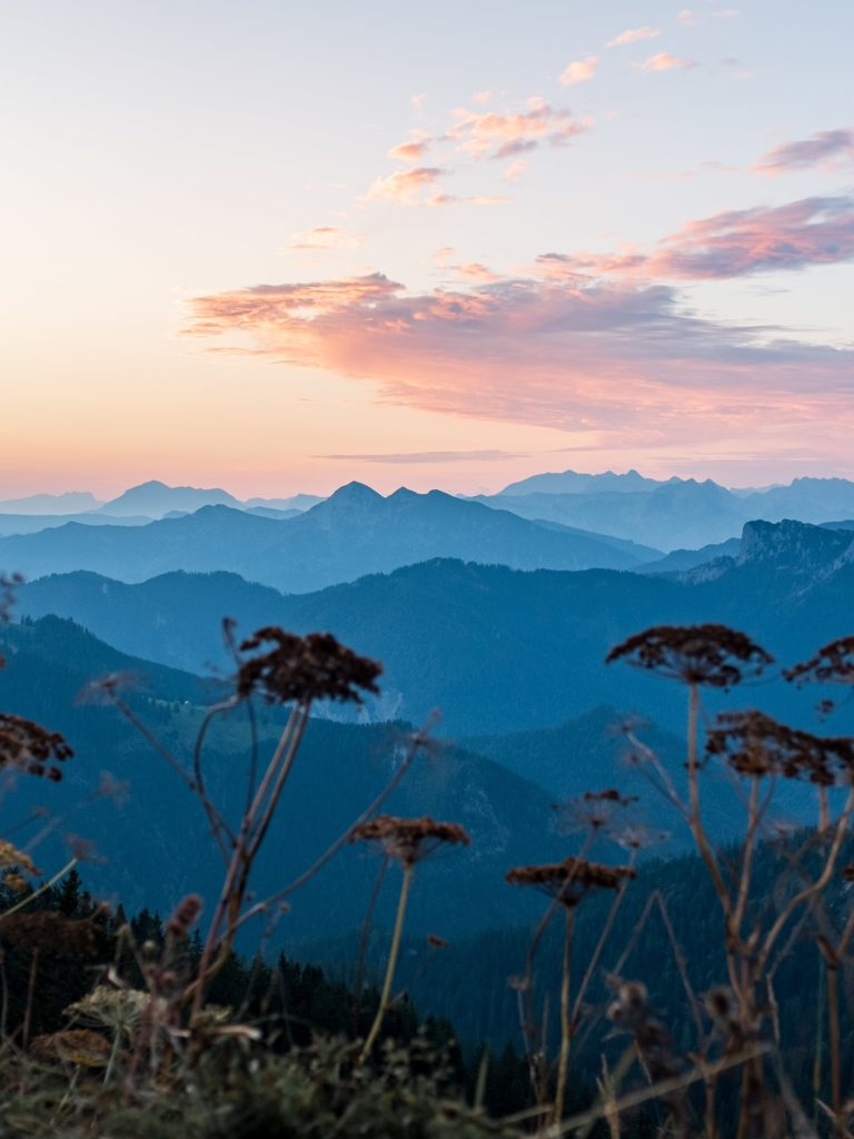 Bergpanorama Sonnenaufgang