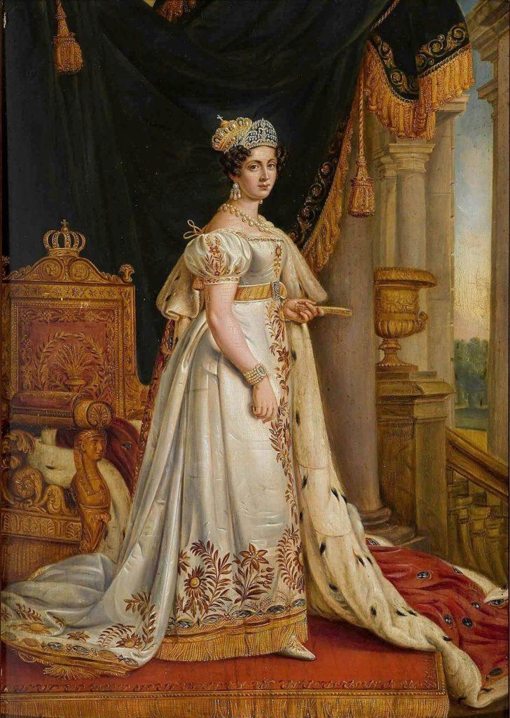 Gemälde von Königin Therese im Krönungsornat