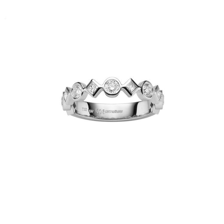 Memoire: 750/- Weißgold mit Diamanten